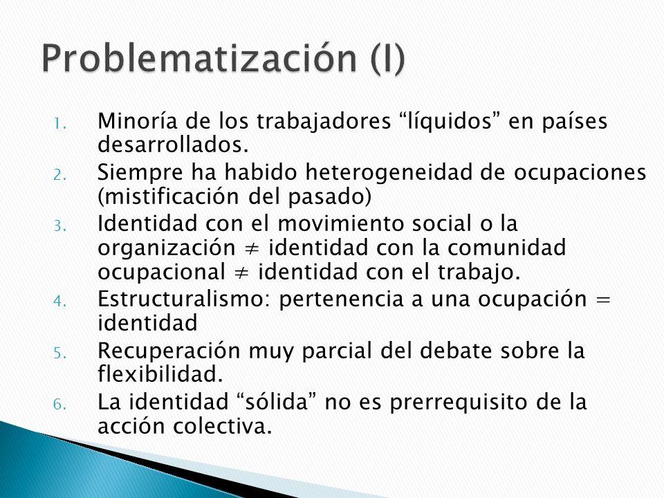 Problematización (I)Minoría de los trabajadores líquidos en países desarrollados.