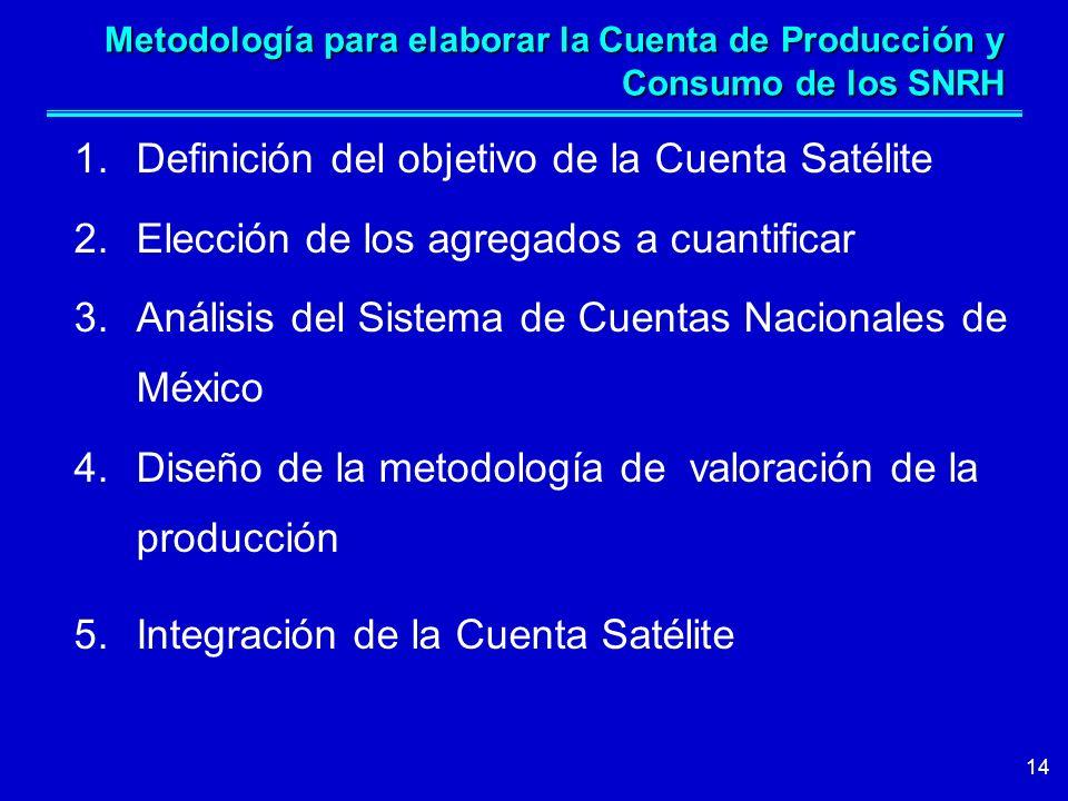 Definición del objetivo de la Cuenta Satélite
