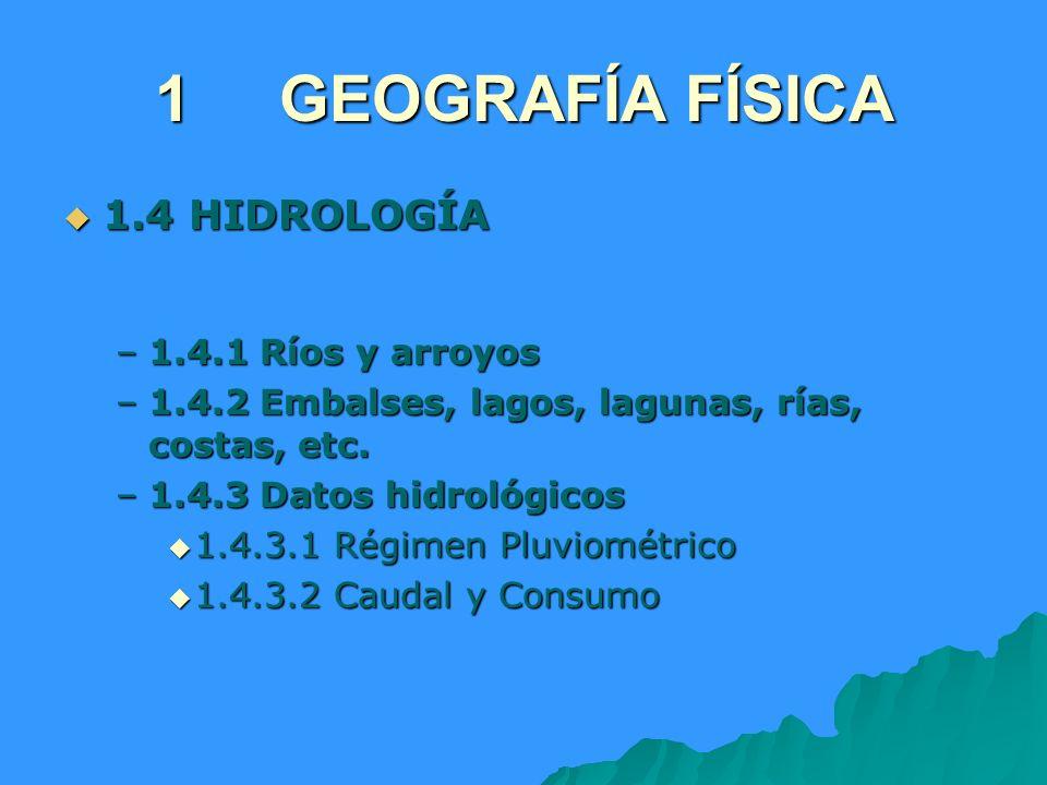 1 GEOGRAFÍA FÍSICA 1.4 HIDROLOGÍA 1.4.1 Ríos y arroyos