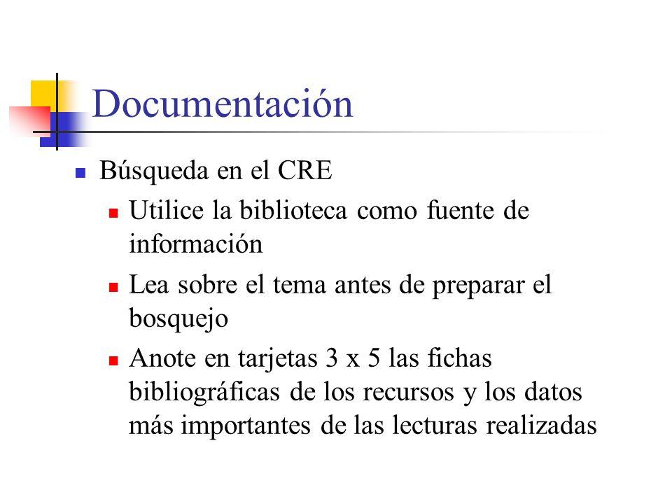 Documentación Búsqueda en el CRE