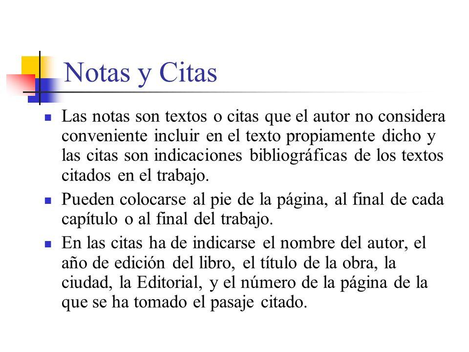 Notas y Citas