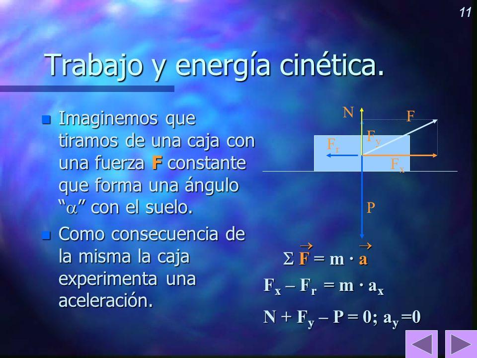 Trabajo y energía cinética.