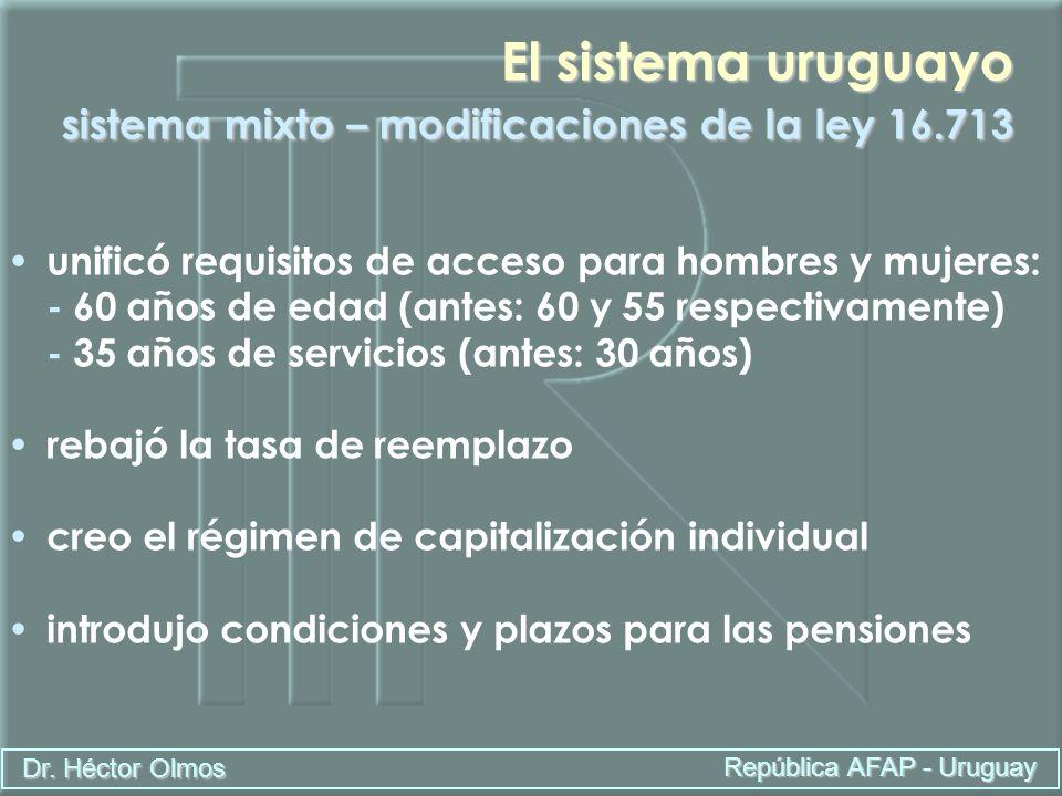 El sistema uruguayo sistema mixto – modificaciones de la ley 16.713
