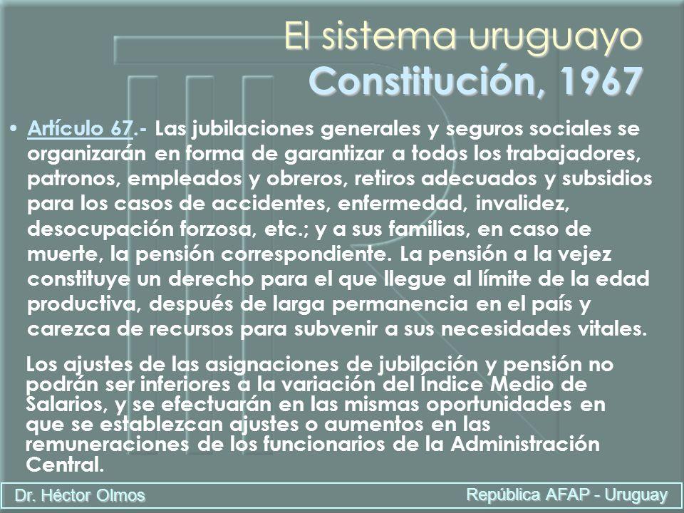 El sistema uruguayo Constitución, 1967