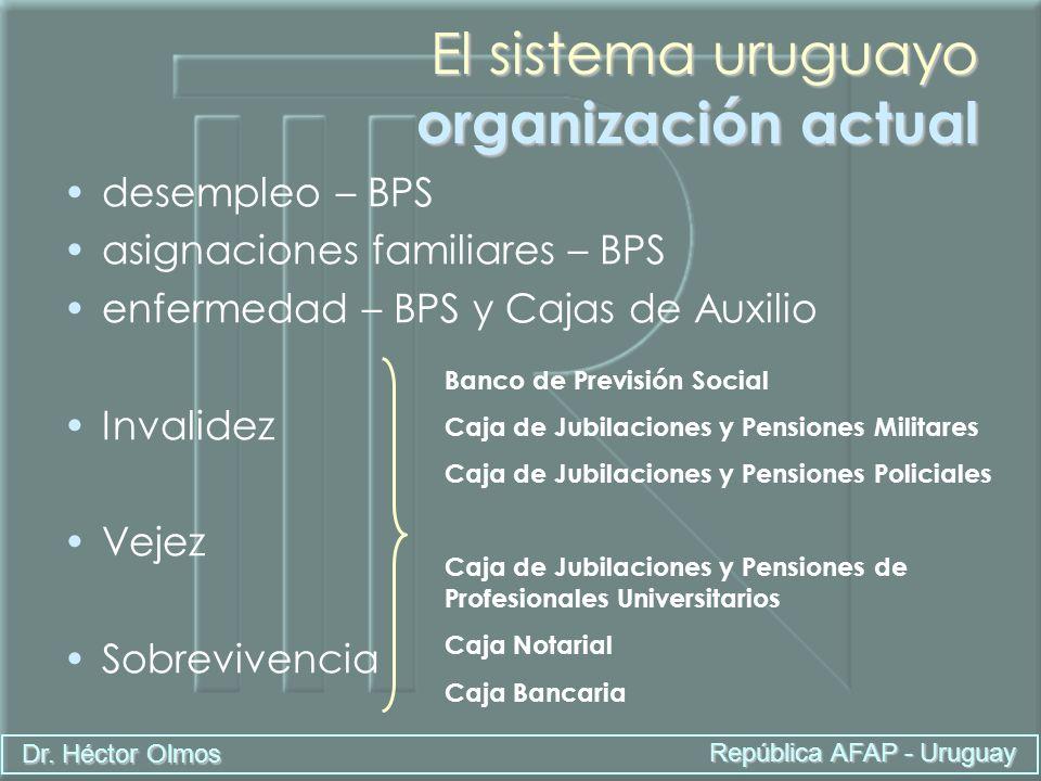 El sistema uruguayo organización actual