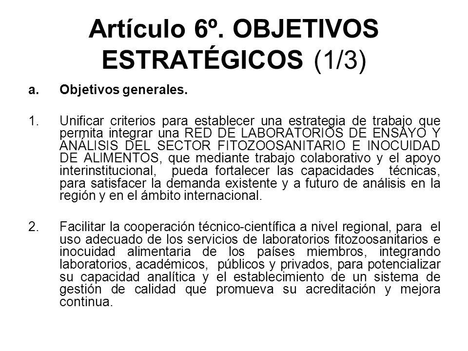 Artículo 6º. OBJETIVOS ESTRATÉGICOS (1/3)
