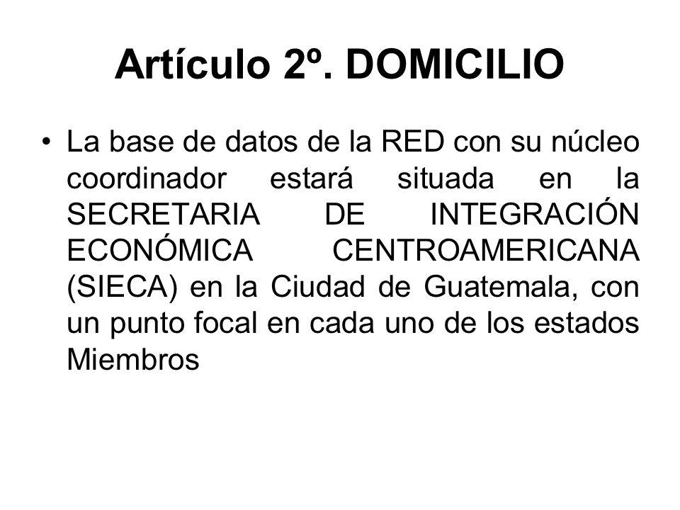 Artículo 2º. DOMICILIO