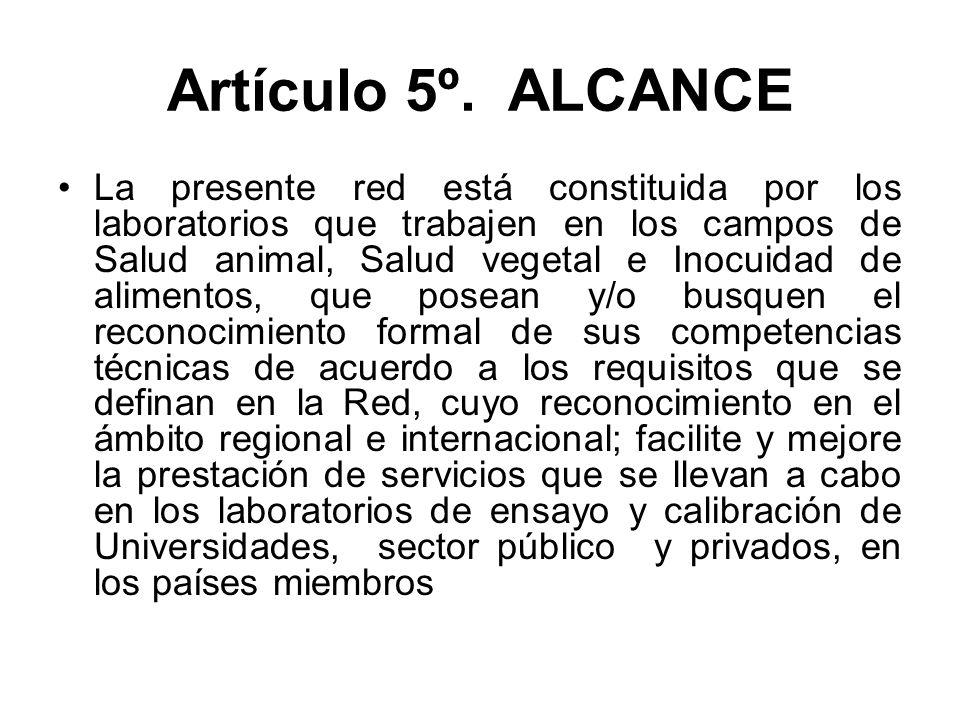 Artículo 5º. ALCANCE