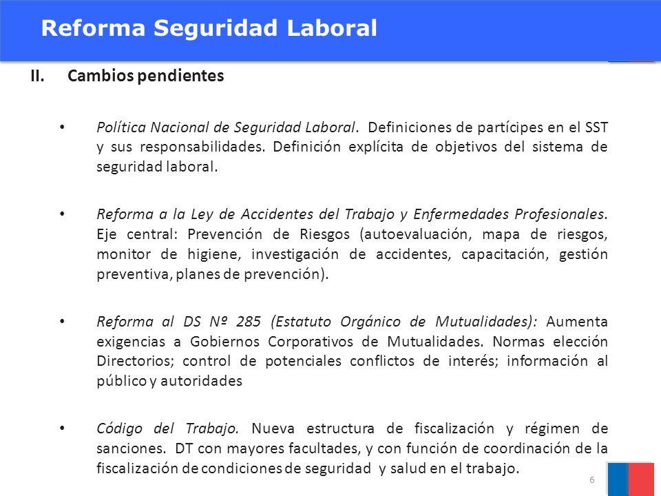 Reforma Seguridad Laboral