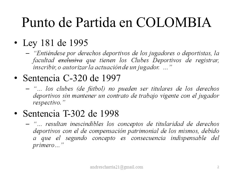 Punto de Partida en COLOMBIA