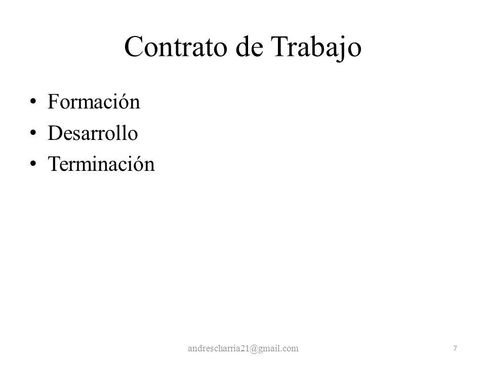 Contrato de Trabajo Formación Desarrollo Terminación