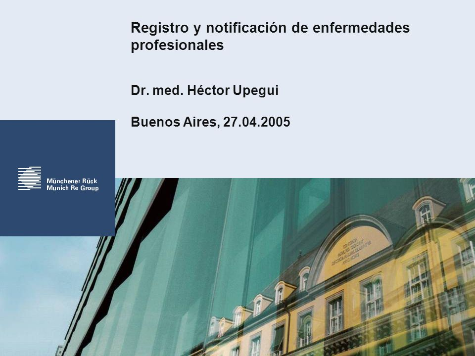 Registro y notificación de enfermedades profesionales