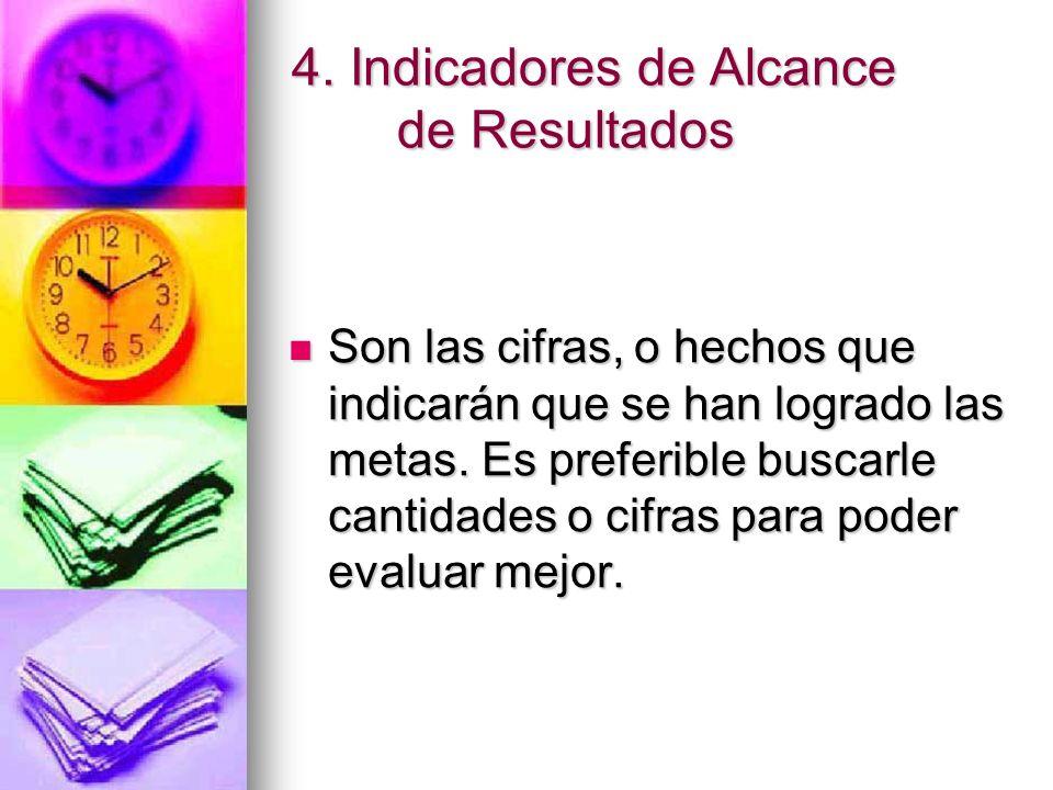 4. Indicadores de Alcance de Resultados