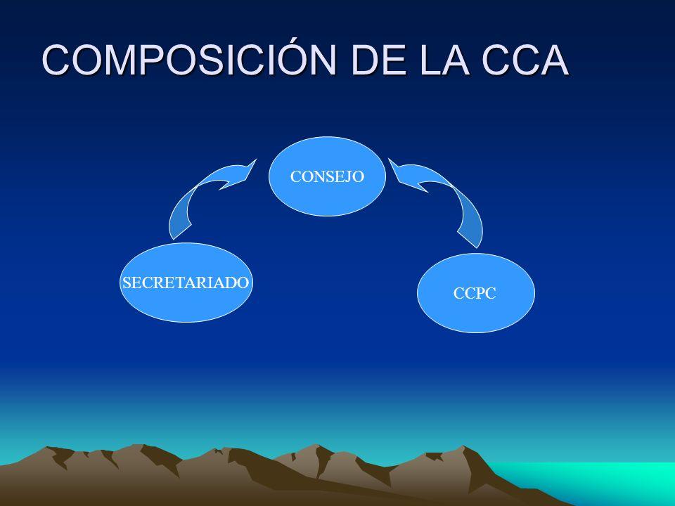 COMPOSICIÓN DE LA CCA CONSEJO SECRETARIADO CCPC