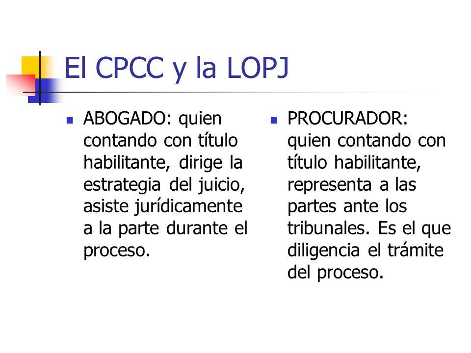 El CPCC y la LOPJ