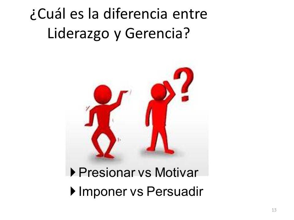 ¿Cuál es la diferencia entre Liderazgo y Gerencia