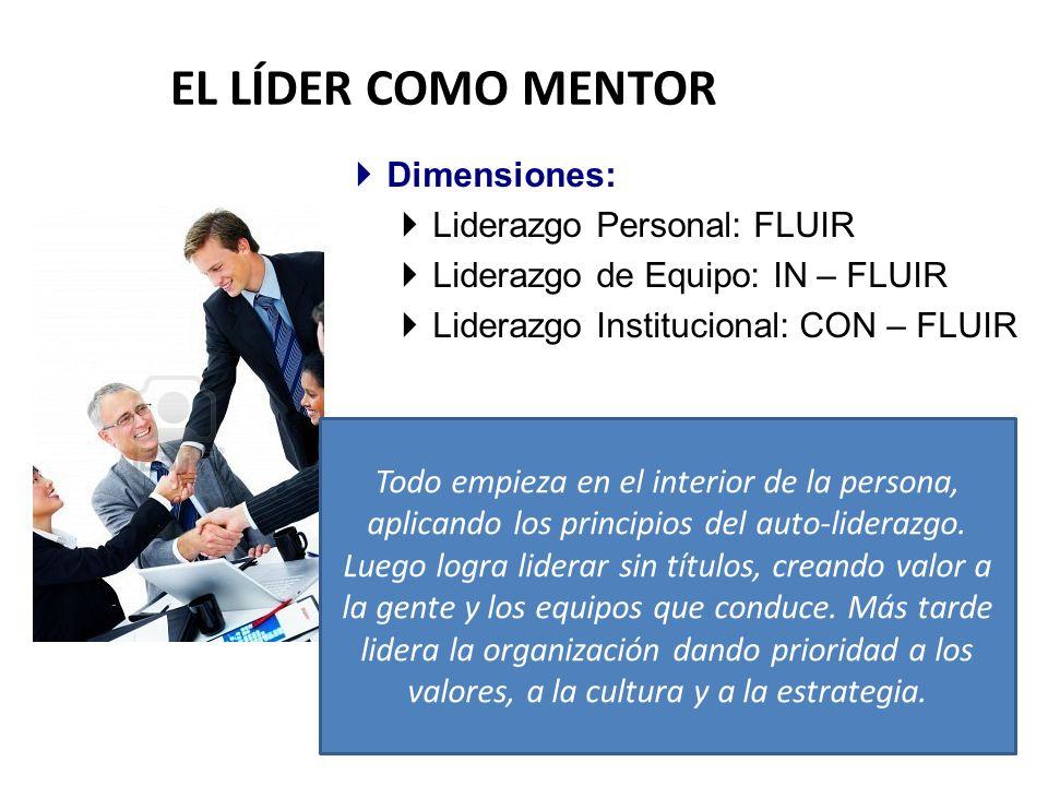 EL LÍDER COMO MENTOR Dimensiones: Liderazgo Personal: FLUIR