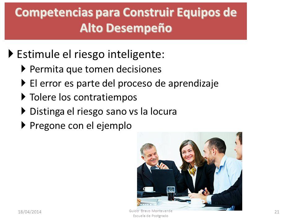 Competencias para Construir Equipos de Alto Desempeño