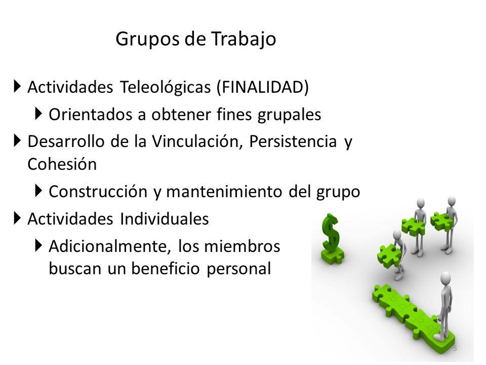 Grupos de Trabajo Actividades Teleológicas (FINALIDAD)