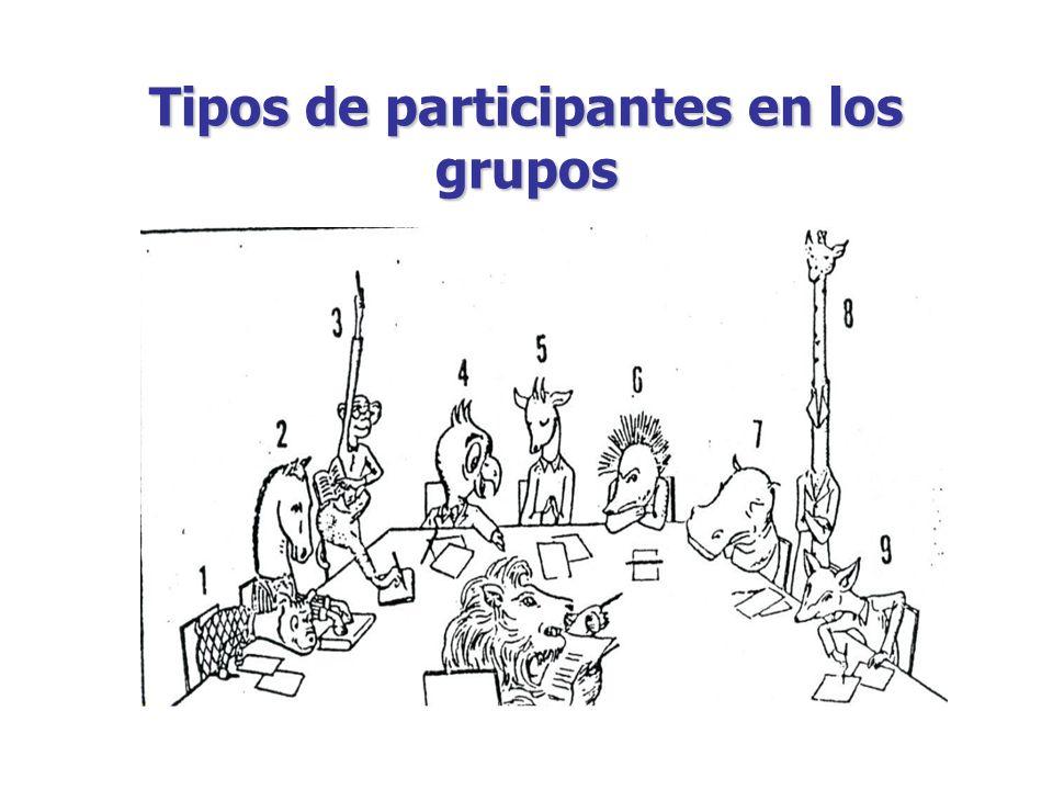 Tipos de participantes en los grupos