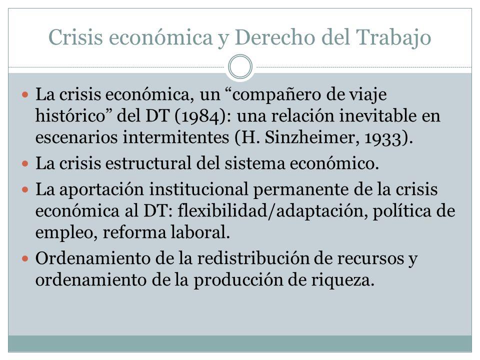 Crisis económica y Derecho del Trabajo