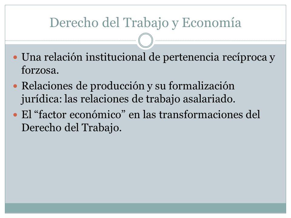 Derecho del Trabajo y Economía