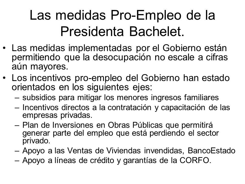 Las medidas Pro-Empleo de la Presidenta Bachelet.