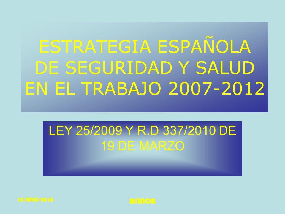 ESTRATEGIA ESPAÑOLA DE SEGURIDAD Y SALUD EN EL TRABAJO 2007-2012