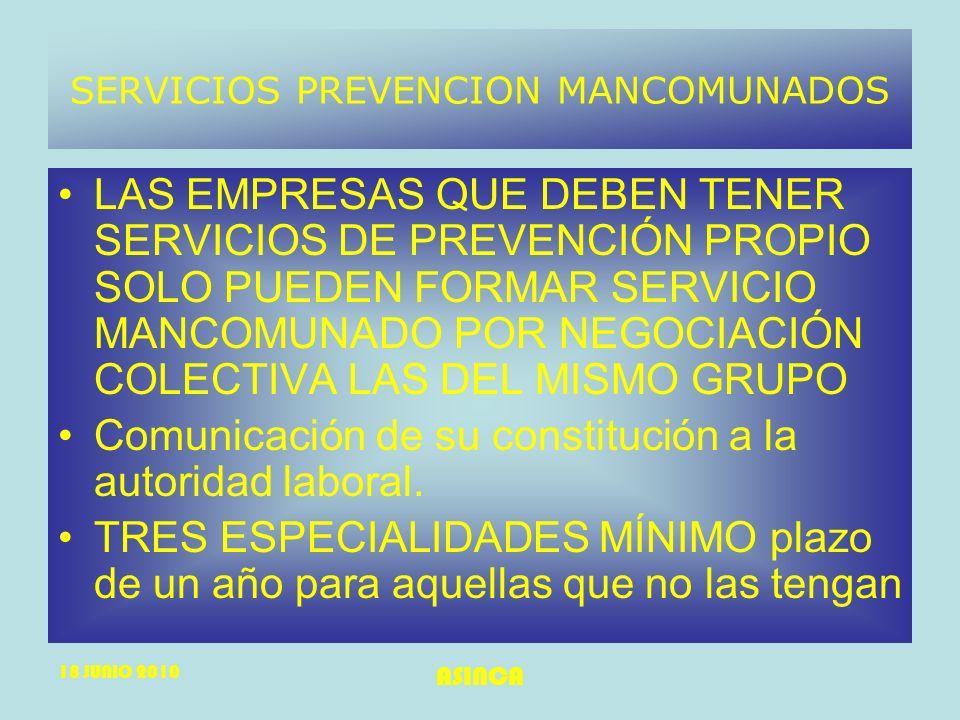 SERVICIOS PREVENCION MANCOMUNADOS