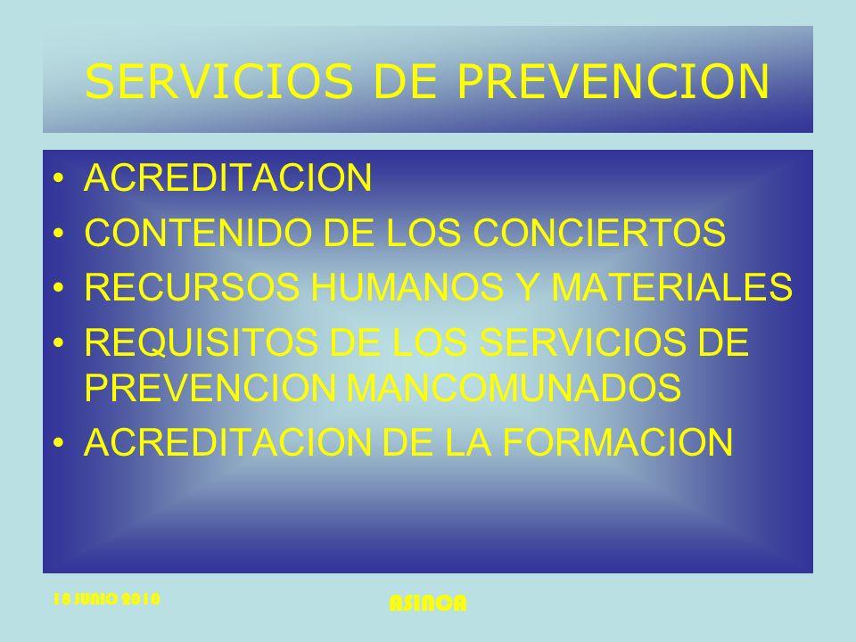 SERVICIOS DE PREVENCION