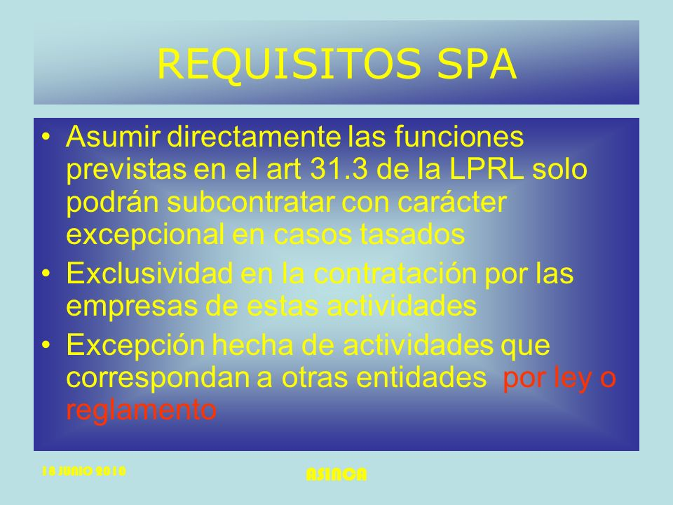 REQUISITOS SPA