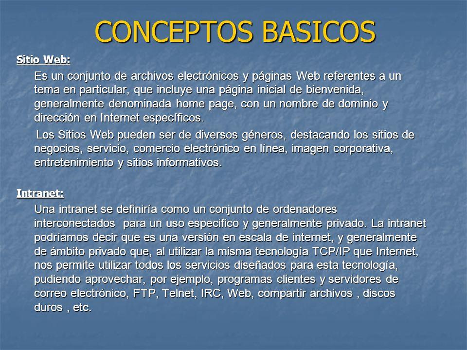 CONCEPTOS BASICOS Sitio Web: