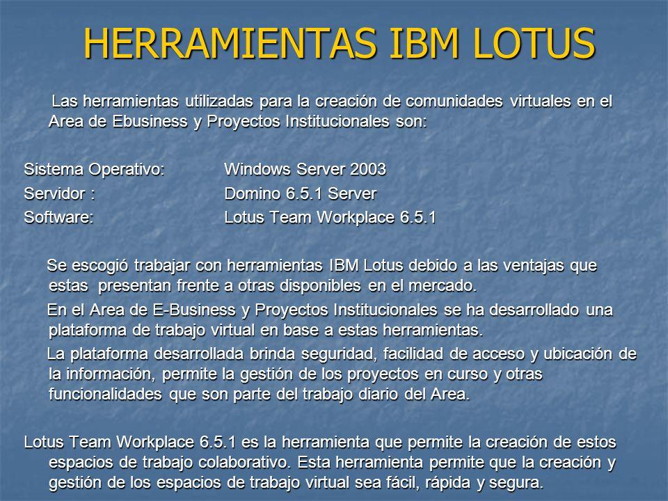 HERRAMIENTAS IBM LOTUS