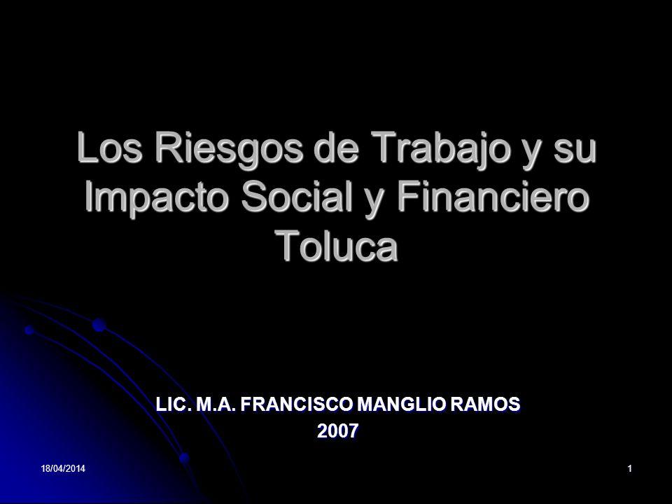 Los Riesgos de Trabajo y su Impacto Social y Financiero Toluca