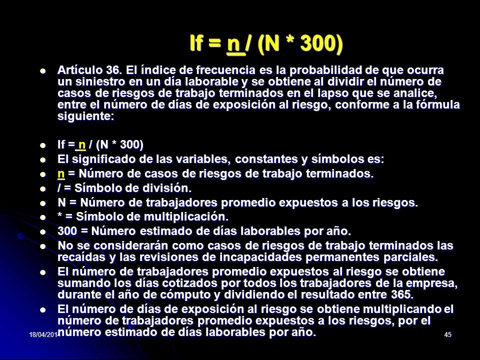 If = n / (N * 300)