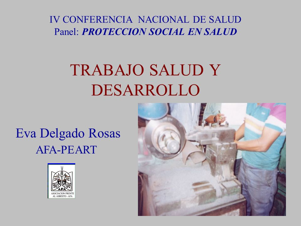 Eva Delgado Rosas AFA-PEART
