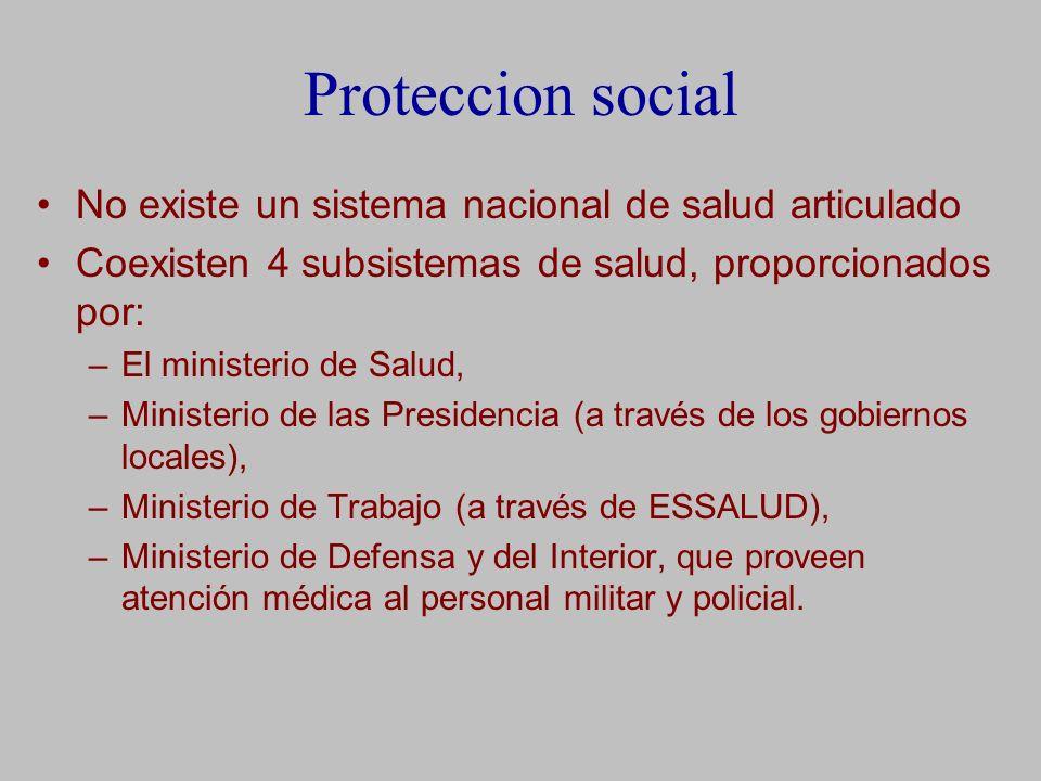Proteccion social No existe un sistema nacional de salud articulado