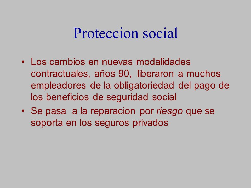 Proteccion social