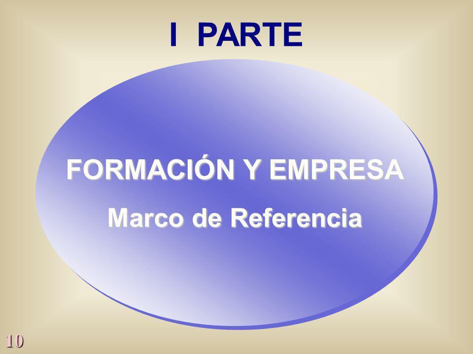 I PARTE FORMACIÓN Y EMPRESA Marco de Referencia