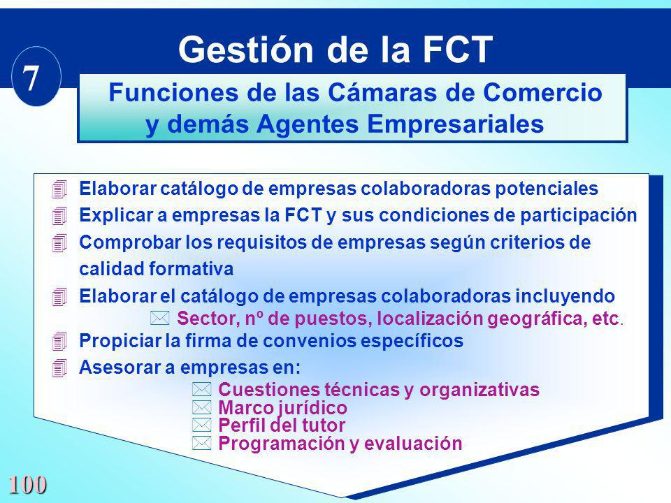 Funciones de las Cámaras de Comercio y demás Agentes Empresariales