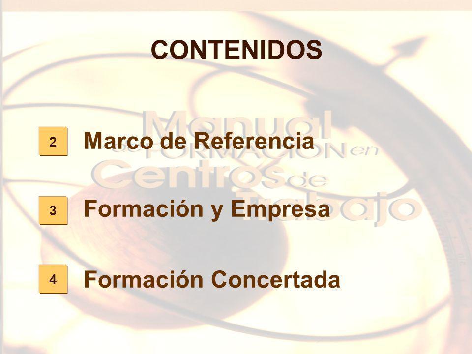 CONTENIDOS Marco de Referencia Formación y Empresa