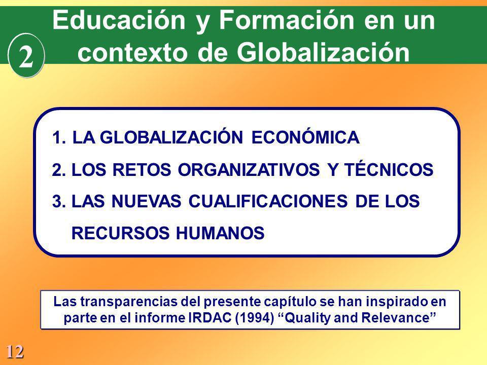 2 Educación y Formación en un contexto de Globalización