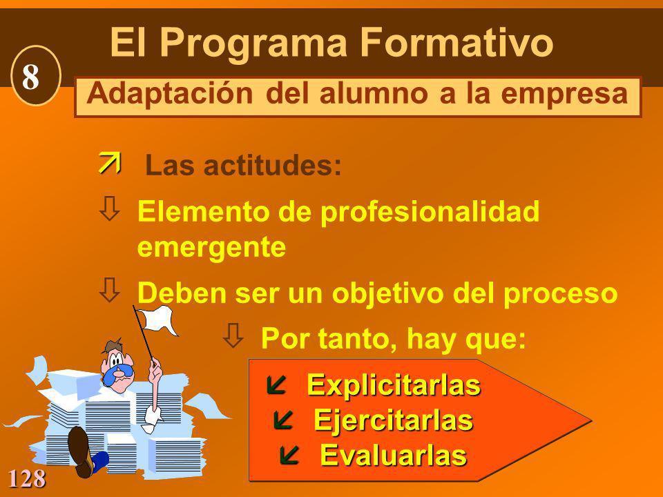 Adaptación del alumno a la empresa
