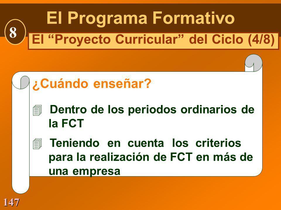 El Proyecto Curricular del Ciclo (4/8)