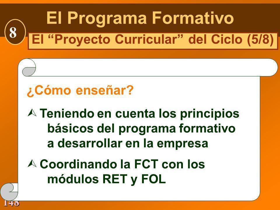 El Proyecto Curricular del Ciclo (5/8)