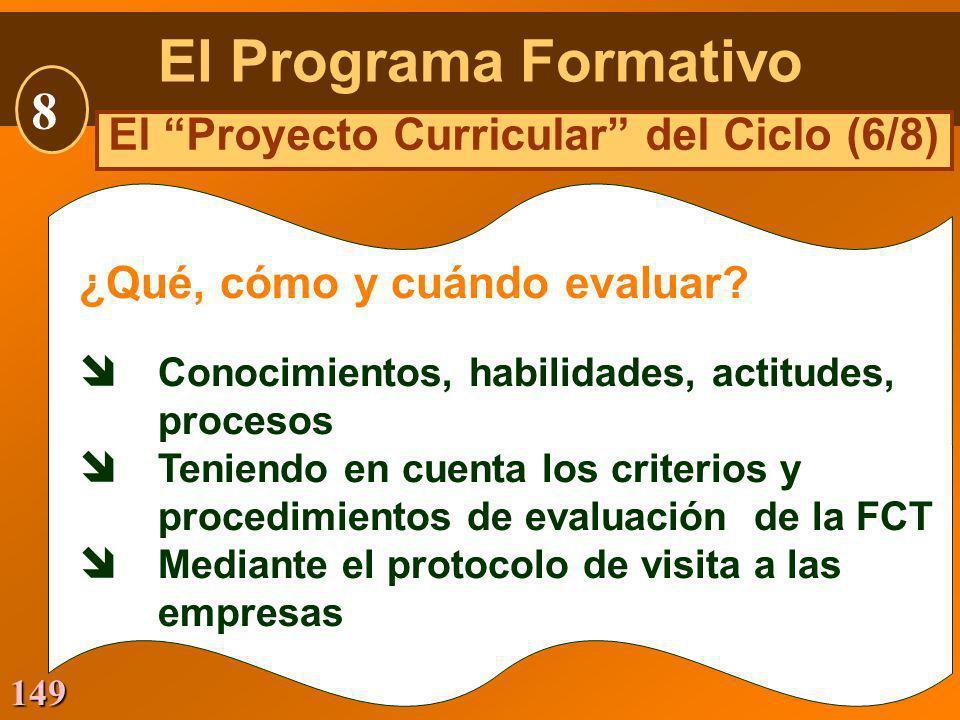 El Proyecto Curricular del Ciclo (6/8)