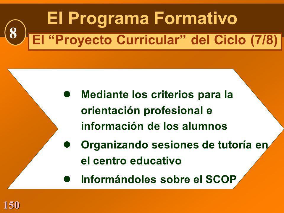 El Proyecto Curricular del Ciclo (7/8)