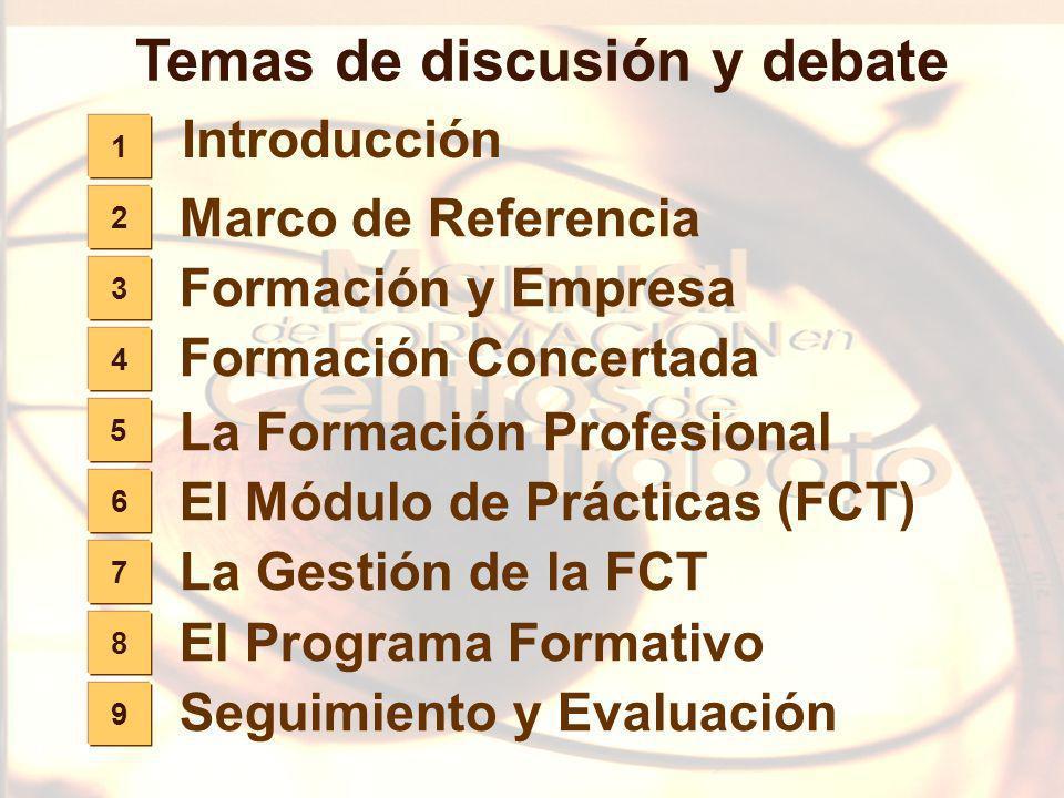 Temas de discusión y debate