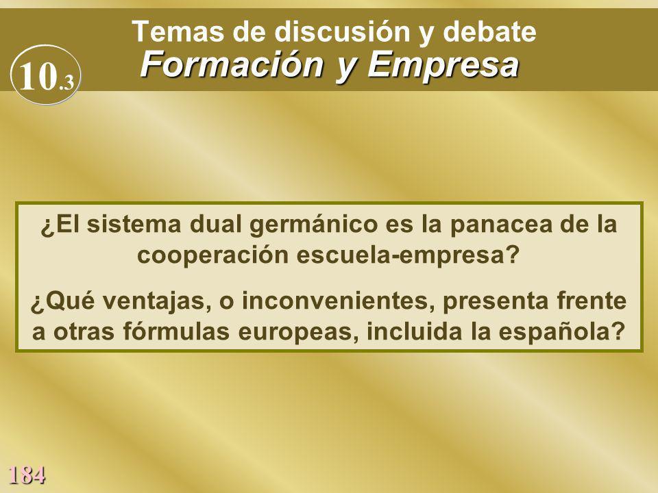 Temas de discusión y debate Formación y Empresa