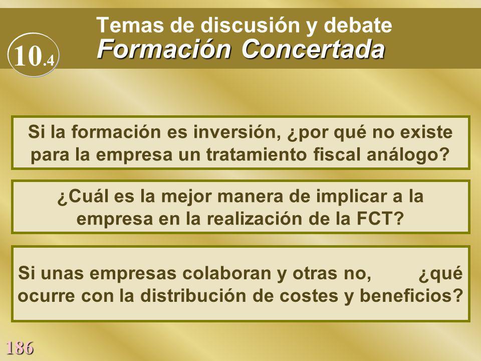 Temas de discusión y debate Formación Concertada